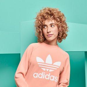 Adidas Dust Pink Trefoil Crewneck Sweatshirt